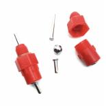 "Nipel AGROFORTEL, plastový, červený, 1/8 "", 3 mm nipel"