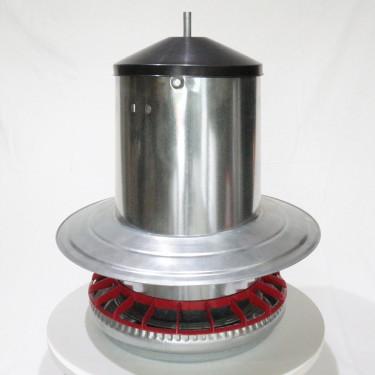 AGROFORTEL Tubusové krmítko pozinkované - 18 kg - kruh proti dažďu