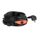 Vykurovací kábel s termostatom 3-13 ° C 230 V PG 06, 6 metrov