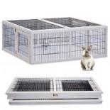 Drevený výbeh pre králiky - biely XL