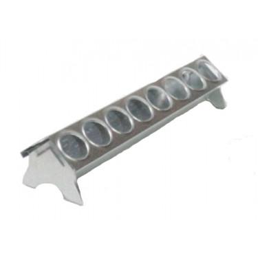 Žľabové krmítko kovové pre hydinu - 30 cm