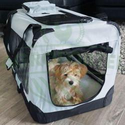 Prepravný box na psa alebo mačku - veľkosť M, šedý