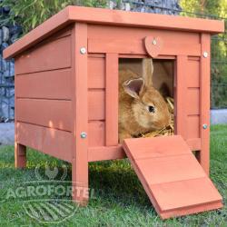 Drevená mini králikáreň BRNO, 515x420x430 mm