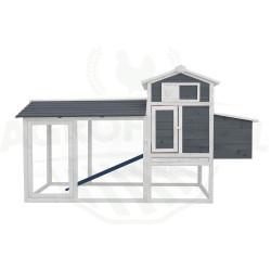 Drevený kurník HAMBURG, 2045x765x1165 mm