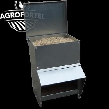 Kovové násypné kŕmidlo AGROFORTEL - 8 kg, šetrí krmivo, kvalitné prevedenie