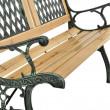 Záhradná lavička Epsilon - kovová s drevom, 122 x 54 x 73 cm