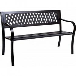 Záhradná lavička Zeta - kovová, 126 x 53 x 77 cm