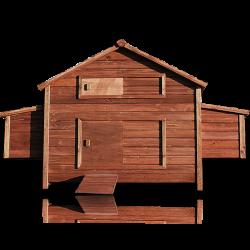 Drevený kurník a Husník MOSKVA, 1880x1130x870 mm