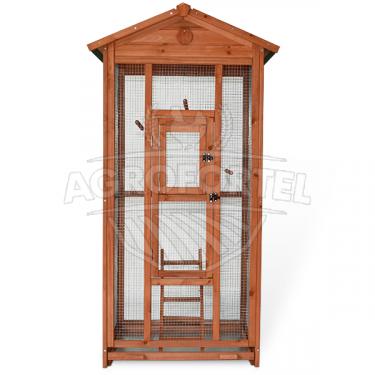 Voliéra pre vtákov - veľkosť L - masívne drevo, 83 x 60 x 160 cm