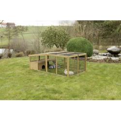 Kerbl výbeh pre králiky, odklopný s domčekom, 220 x 115 x 75 cm