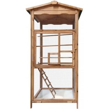 Voliéra pre vtákov - veľkosť M - masívne drevo, 89 x 67 x 173 cm