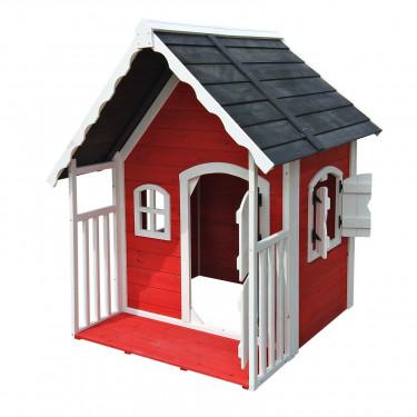 Detský drevený domček  Červená čiapočka, 115 x 125 x 140 cm