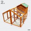 Drevený kurník TRNAVA, 2295x1280 X1170 mm