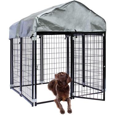 Vonkajší koterec pre psa BAX - oplotený výbeh - 121 x 121 x 137 cm