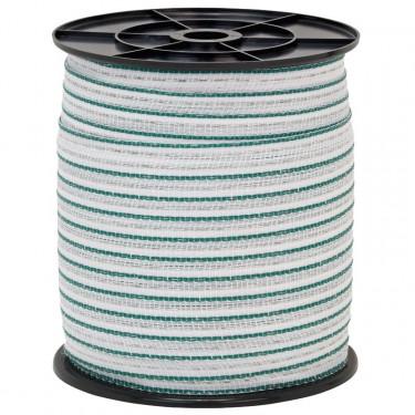 Páska pre elektrický ohradník, priemer 20 mm, 200 m, zeleno-biela