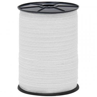 Páska pre elektrický ohradník, priemer 20 mm, 200 m, biela