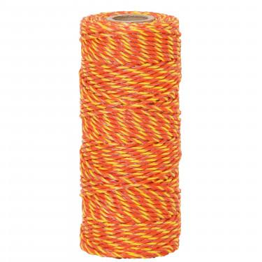 Lanko pre elektrický ohradník, priemer 2,5 mm, 100 m, žlto-oranžové