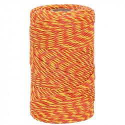 Lanko pre elektrický ohradník, priemer 2 mm, 250 m, žlto-oranžové