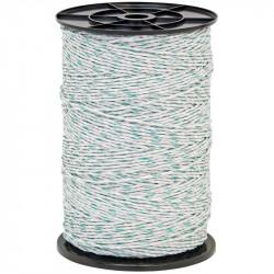 Lanko pre elektrický ohradník, priemer 3 mm, 400 m, zeleno-biele