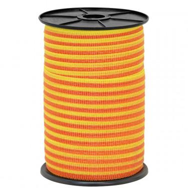 Páska pre elektrický ohradník, priemer 10 mm, 250 m, žlto-oranžové