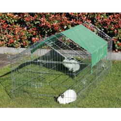 Vonkajší výbeh veľkosť M - pre hydinu a králiky, 2000 x 960 x 1020 mm s plachtou